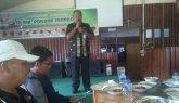 Ketua peringatan HPN Provinsi Riau di Kab Inhil, Darussalam saat memberikan penjelasan.