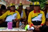 Bupati Inhil, HM Wardan duduk berdampingan dengan Ketua DPRD, Dani M Nursalam dalam sebuah kegiatan baru-baru ini. Foto: mirwan