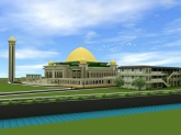 satu dari tiga paket multiyears,  Islamic Centre di jalan pendidikan Tembilahan