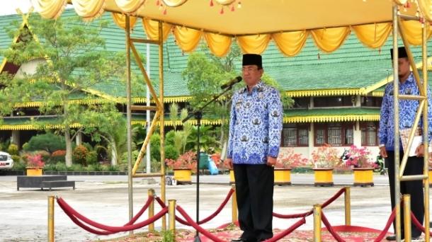 Bupati HM.Wardan Pimpin Apel Hari Kesdaran Nasional TH 2017
