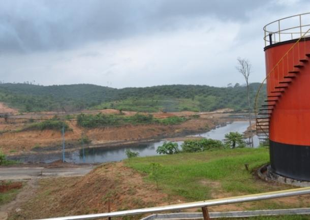 kolam penampungan limbah milik PT PKS. foto; dok detikriau.org