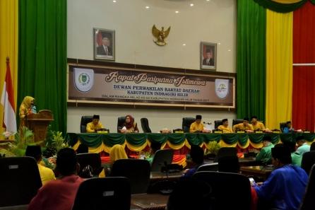 Mewakili Gubernur Riau, Kabiro Pemerintahan Setdaprov Riau saat menyampaikan amaran