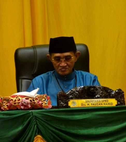 Sekretaris DPRD Inhil, H Fauzan Hamid
