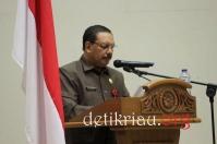 Mewakili Bupati Sekdakab Inhil H Said Syarifuddin saat menyammpaikan amaran