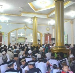 Bupati Inhil HM wardan saat menyampaikan amaran pada kegiatan safari ramadhan di Desa Belantara Kecamatan Gaung Kab Inhil