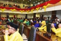 Sejumlah Anggota DPRD Inhil yang mengikuti pelaksanaan Rapat Paripurna Istimewa Milad ke 52 Kabupaten Indragiri Hilir