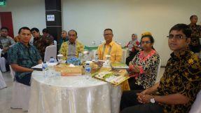 Sejumlah Delegasi Internasional saat ikut menghadiri Seminar Internasional yang dilaksanakan di gedung DPRD Inhil jalan HR Subrantas Tembilahan