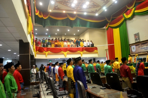 Suasana jalannya Rapat Paripurna Istimewa Milad ke 52 Kabupaten Indragiri Hilir
