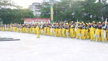 Barisan atlit Inhil yang akan membela nama Inhil di ajang Porprov Riau di Kampar (2)
