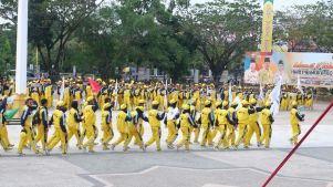 Barisan atlit Inhil yang akan membela nama Inhil di ajang Porprov Riau di Kampar (4)