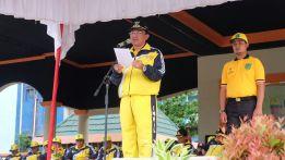 Bupati Inhil HM wardan menyampaikan amaran kepada seluruh atlit dan afficial yang diberangkatkan untuk mengikuti Porprov Riau di Kampar