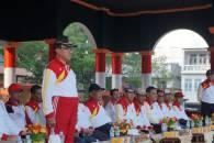 Bupati Inhil tampil sebagai pembina upacara yang kegiatan ini juga tampak dihadiri oleh sejumlah pejabat esselon dilingkungan Setdakab Inhil